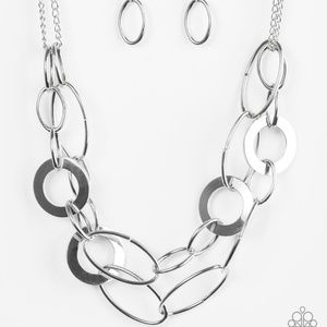 Metallic Maverick - Silver Necklace
